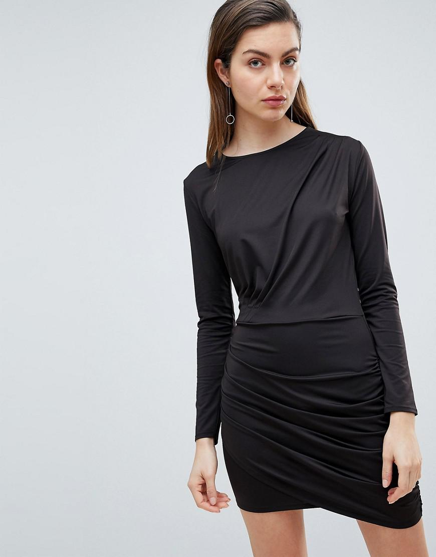 3e960f1f95 Ivyrevel Long Sleeved Jersey Dress With Ruched Detail in Black - Lyst