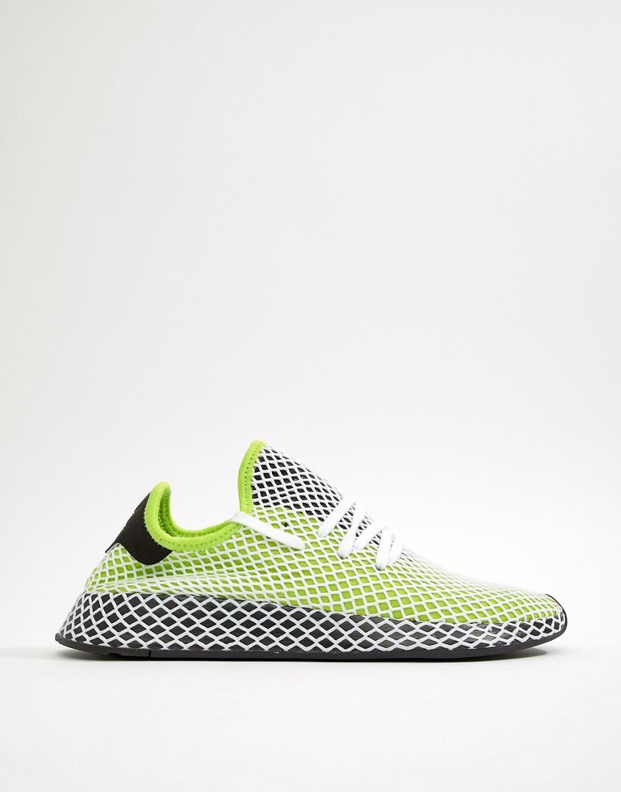 f74568c1effcd Lyst - adidas Originals Deerupt Runner Trainers In Green B27779 in ...
