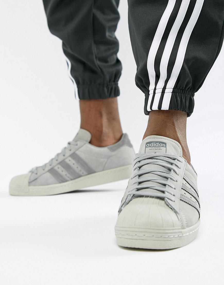 496dc4681797da Lyst - adidas Originals Superstar 80 s Unisex Sneaker in Gray for Men