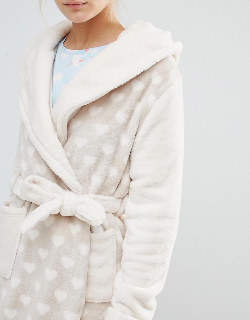 Chelsea Peers Panda Fleece Dressing Gown - Cream in Natural - Lyst