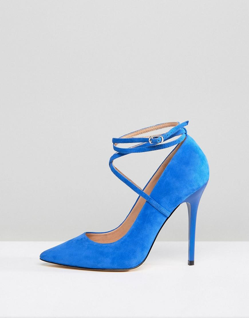 bf29f4c22ad Lyst - Office Hilda Suede Pointed Pumps in Blue