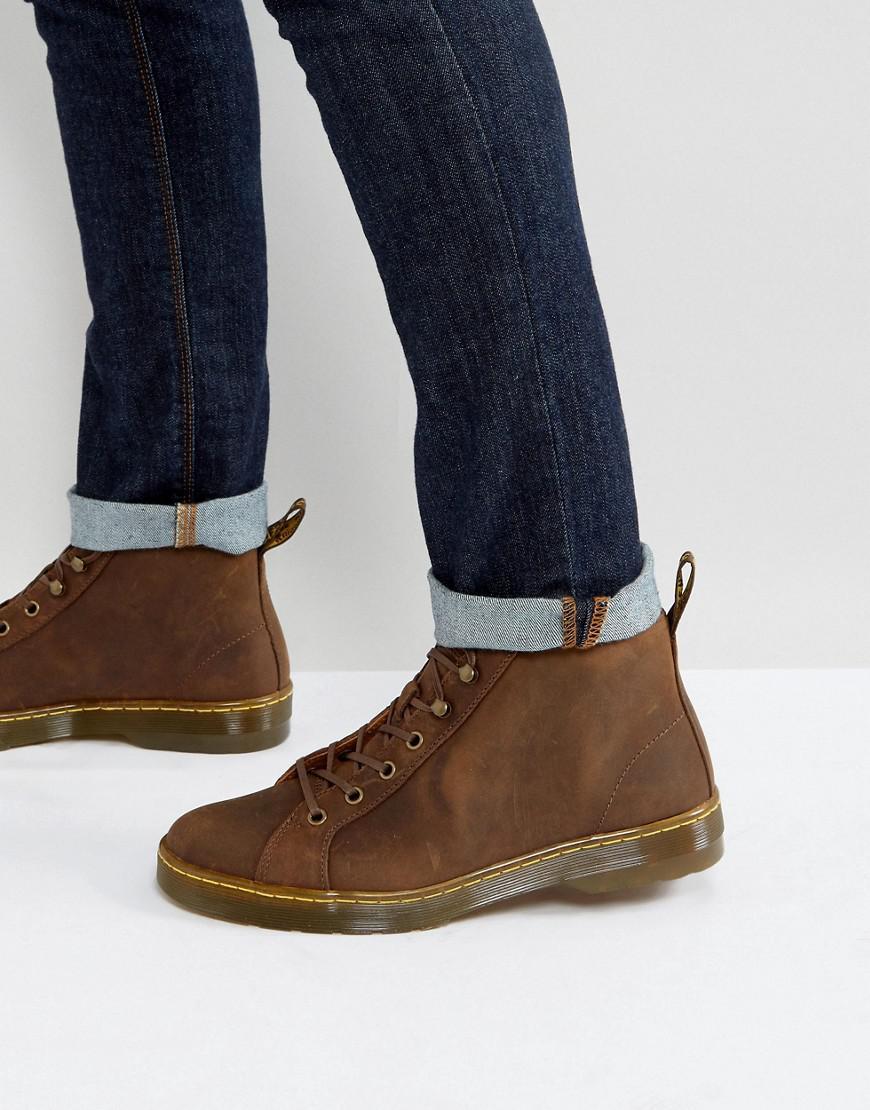 Brown Doc Marten Shoes Slip On