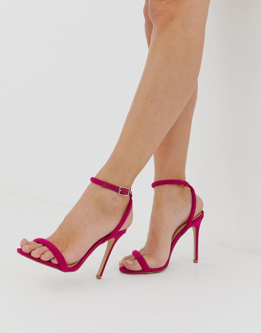 2e55e25a2ab5 Lipsy Barely There Heeled Sandal With Cross Back In Fuschia in Pink ...