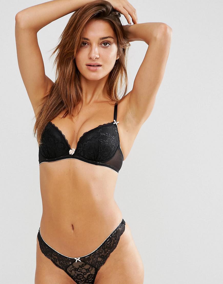 de39fb65b22 Ann Summers Sexy Lace Plunge Bra in Black - Lyst