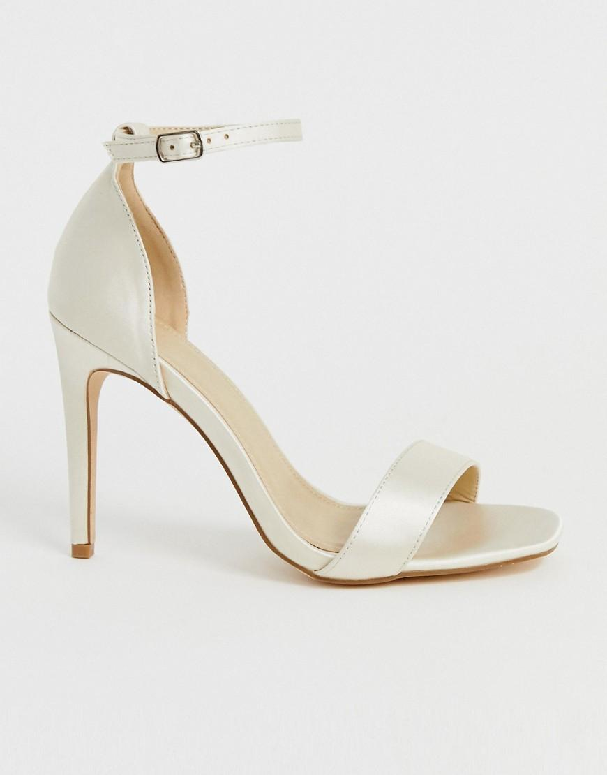 c2b5ad74c Truffle Collection Wide Fit Bridal Stiletto Barely There Heeled Sandals -  Lyst