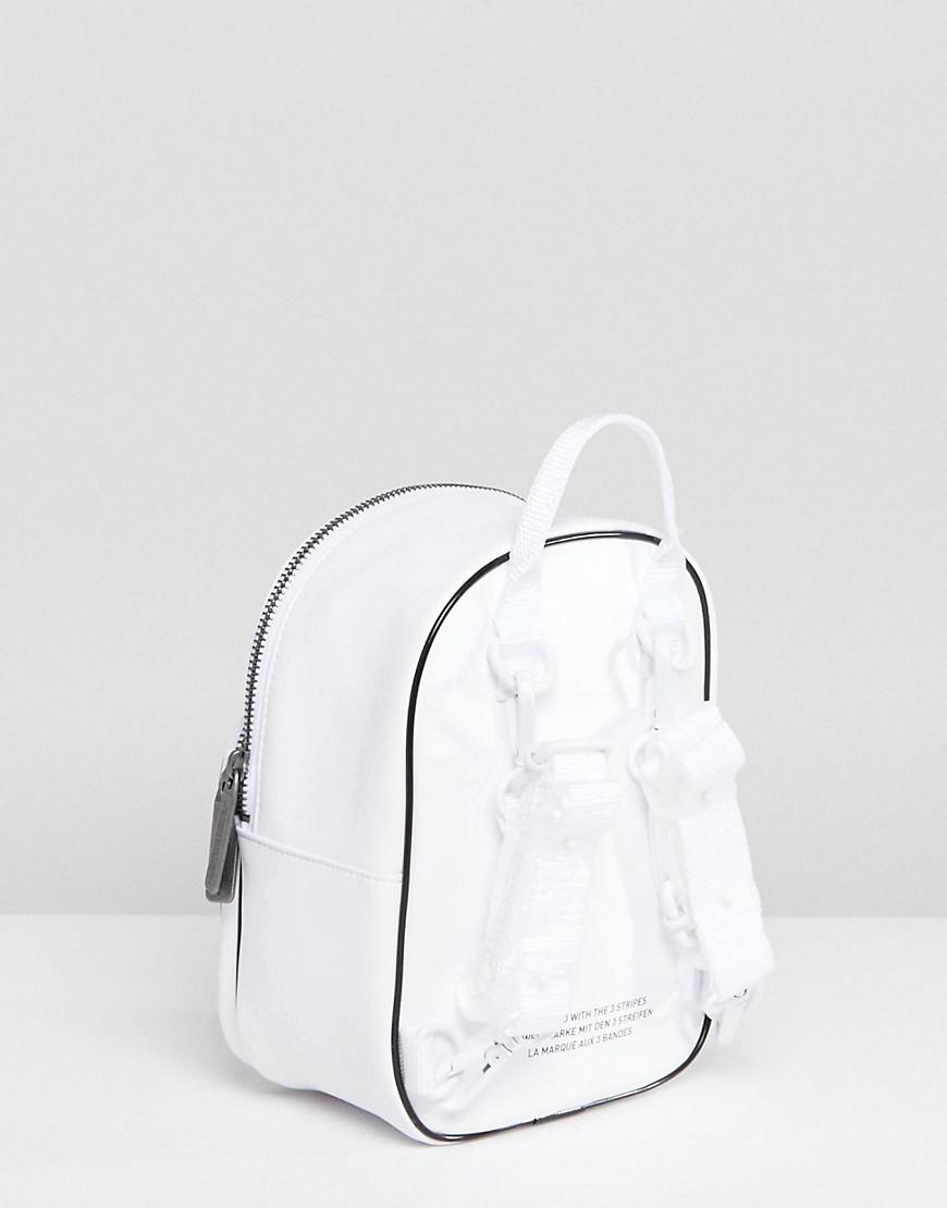 94c90c203d Lyst - adidas Originals Mini Backpack In White Leather in White