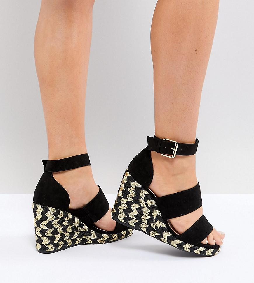 Asos Conception Juiciest Coins Espadrille Coupe Large - Noir upLfgu