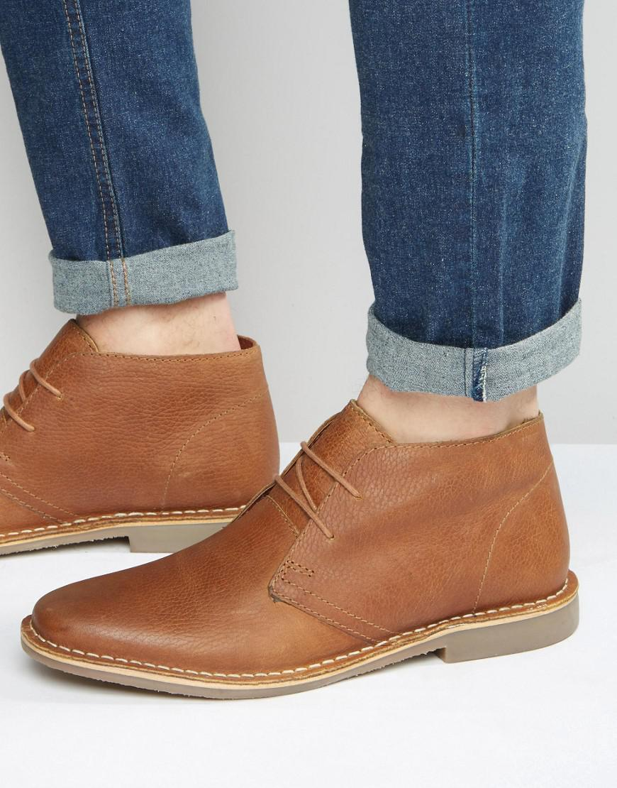 3fc05dcff7637 Red Tape Desert Boots In Tan Leather in Brown for Men - Lyst
