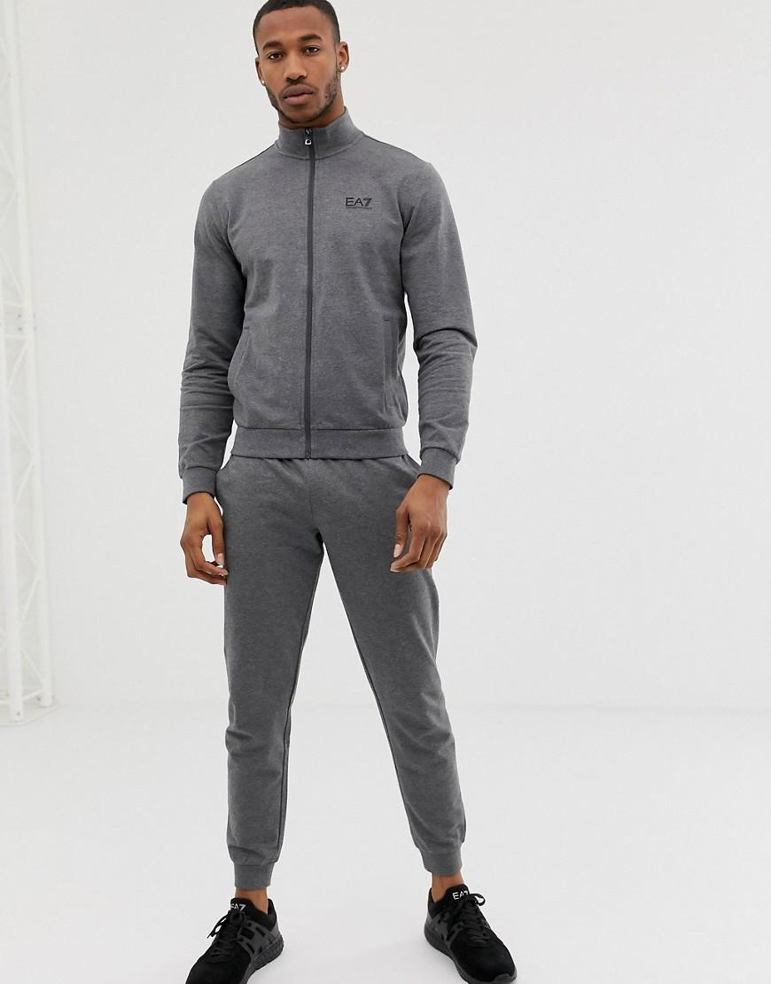 b687a89e24 Lyst - Ea7 French Terry Logo Tracksuit In Gray in Gray for Men