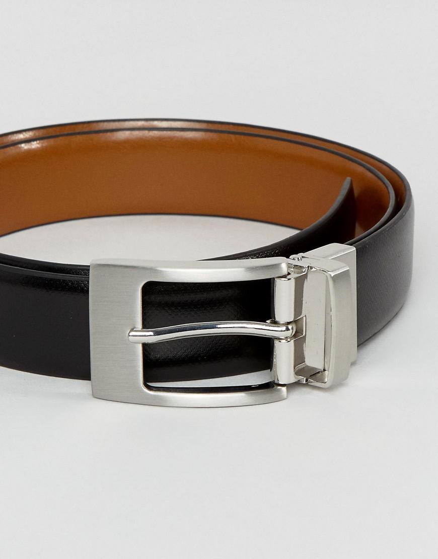 f019d7bdbcbf Lyst - Moss Bros Moss London Reversible Leather Belt In Black tan in ...