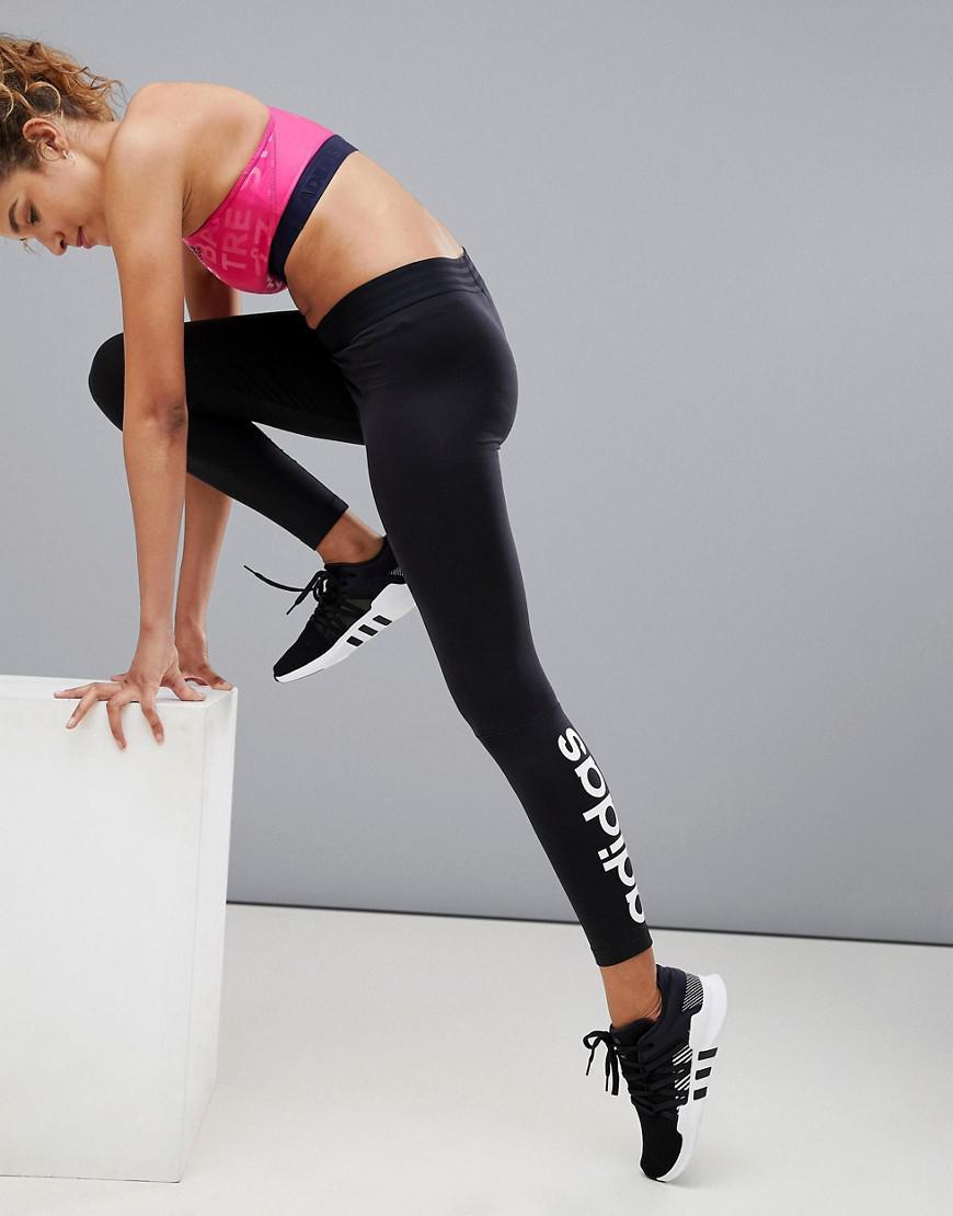 6d09bbc9b9d12 Adidas - Logo Leggings In Black - Lyst. View fullscreen