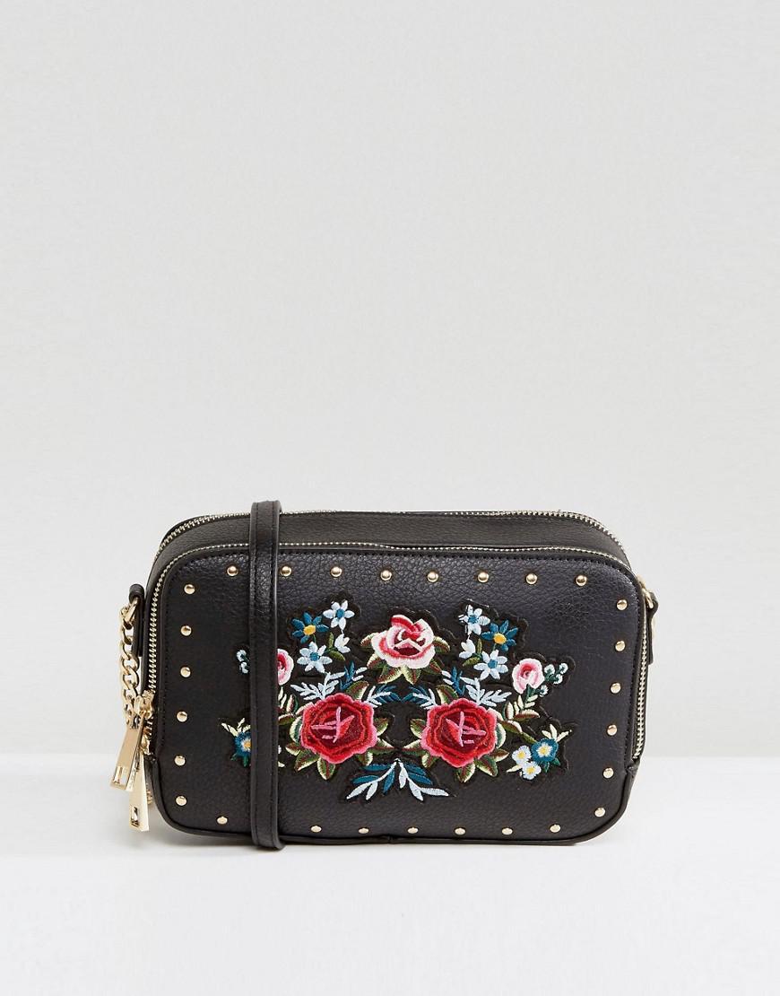 c76c981a57f Lyst - ALDO Moretta Embroidered Mini Cross Body Bag in Black