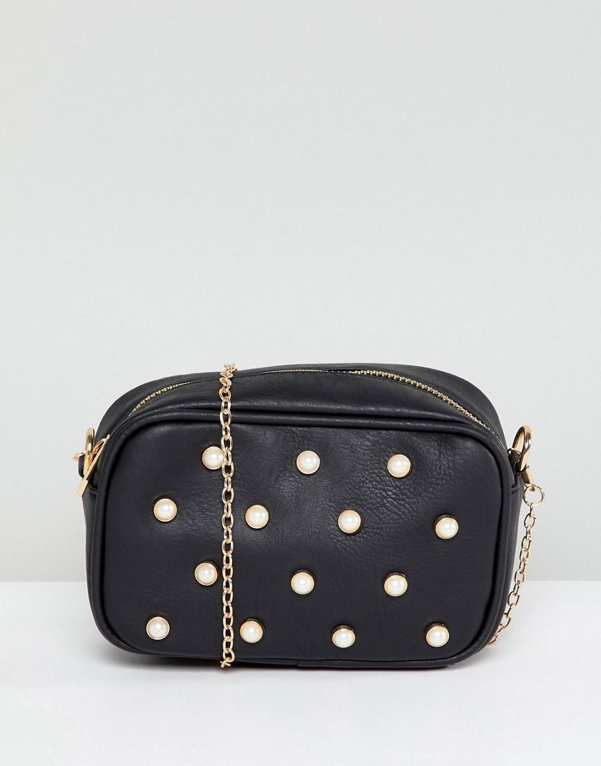 Pearl Embellished Clutch with Detatchable Strap - Pearl Yoki Fashion TxHRDYh