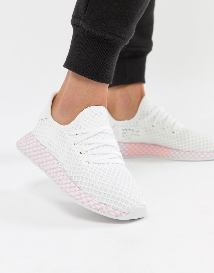 7bd40b622 Lyst - adidas Originals Deerupt Sneakers In White And Lilac in White