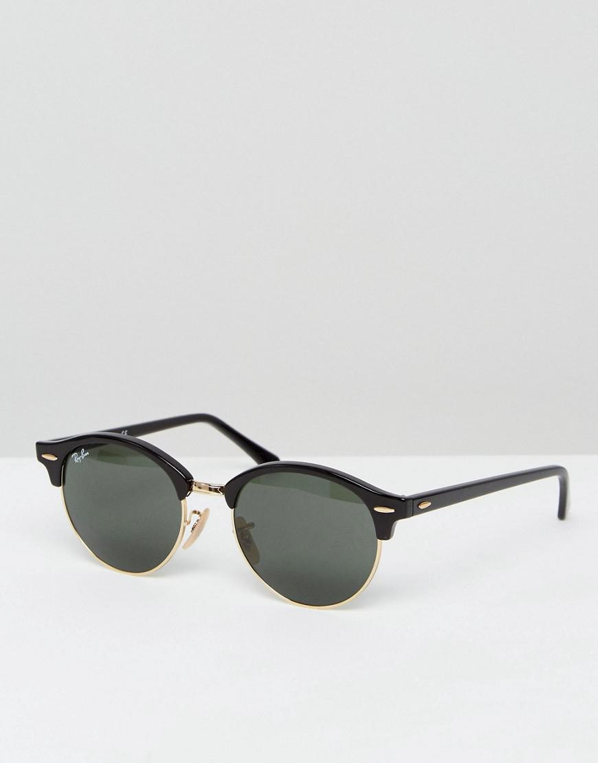 447ee94447 Ray-Ban Clubmaster Round Sunglasses 0rb4246 in Black for Men - Lyst