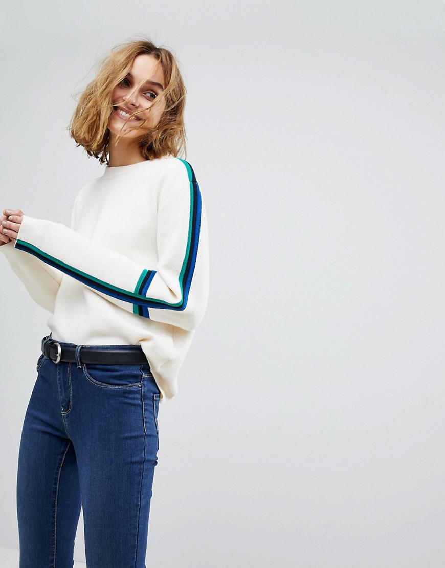 Pictures Cheap Price Free Shipping Find Great Vero Moda Knitted Jumper with Colour Blocked Sleeve Looking For Online For Sale d6bsy
