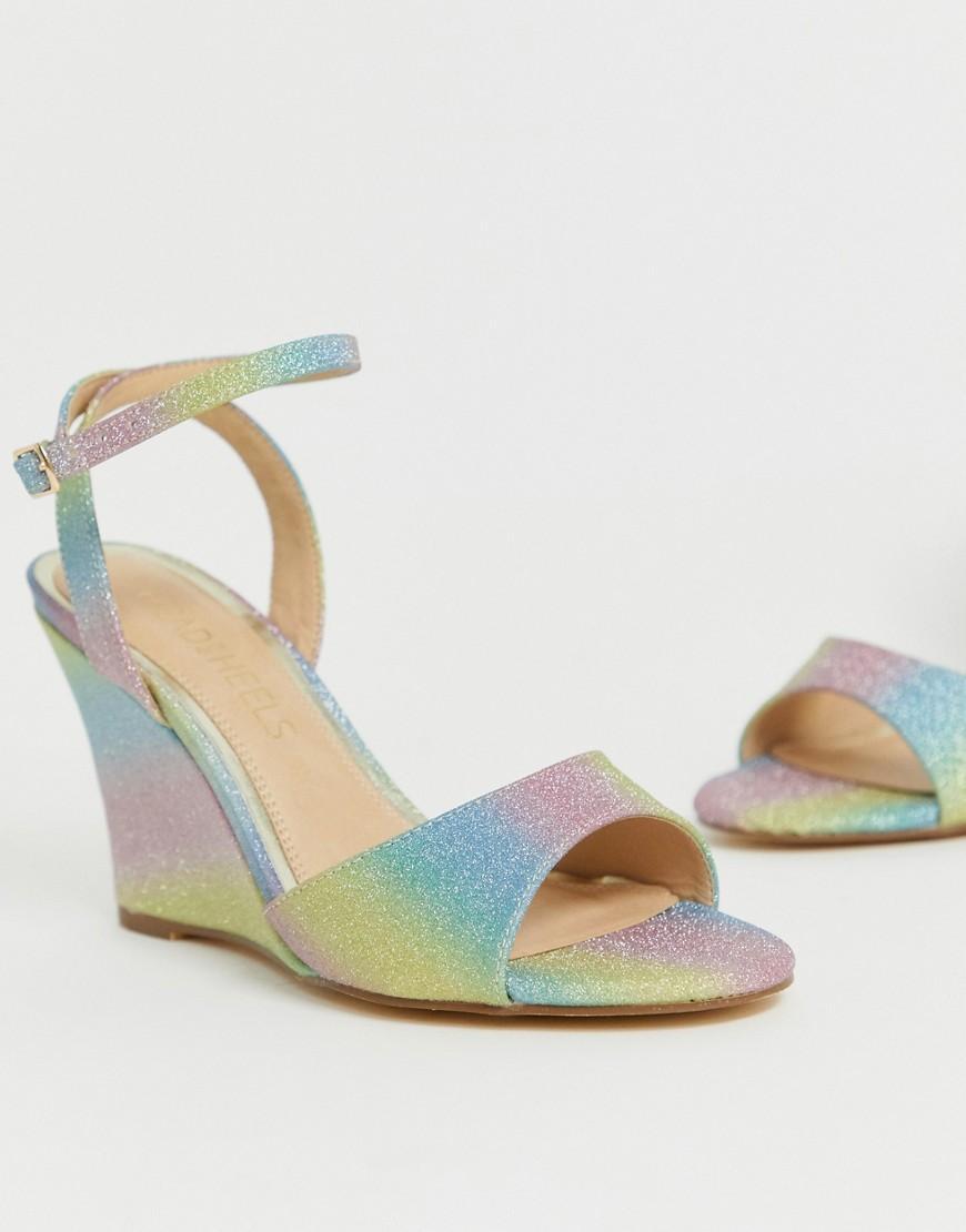 Heels Wedge Milley Dune Glitter Over Sandals 8wopxkn0 Lyst Head Rainbow 13uTKFJlc
