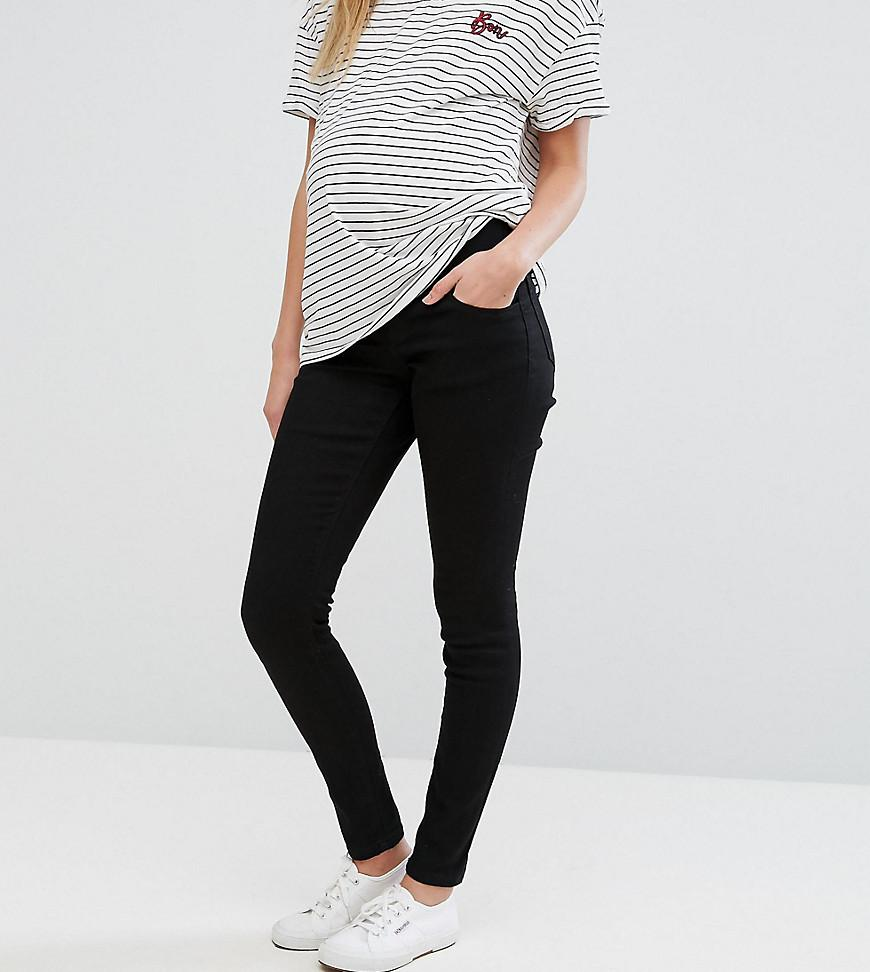 e2be7c83ce94e ASOS. Women's Asos Design Maternity Ridley Skinny Jeans In Clean Black With  ...