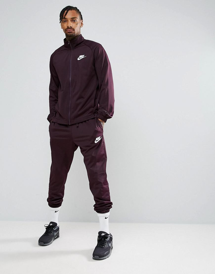 828163ddc4c1 Nike polyknit tracksuit set in purple in purple for men jpg 870x1110 Asos  tribute black nike