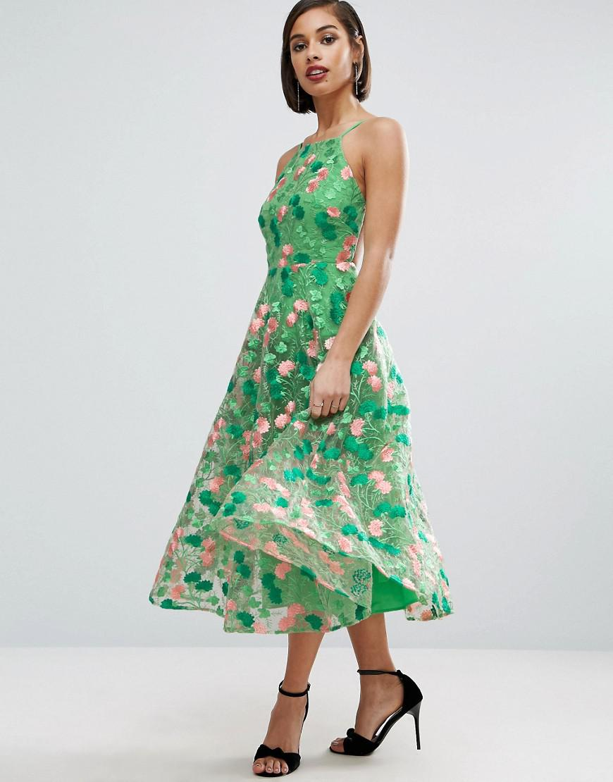 71ea71d549c Asos Floral Embroidered Backless Pinny Midi Prom Dress - Data Dynamic AG