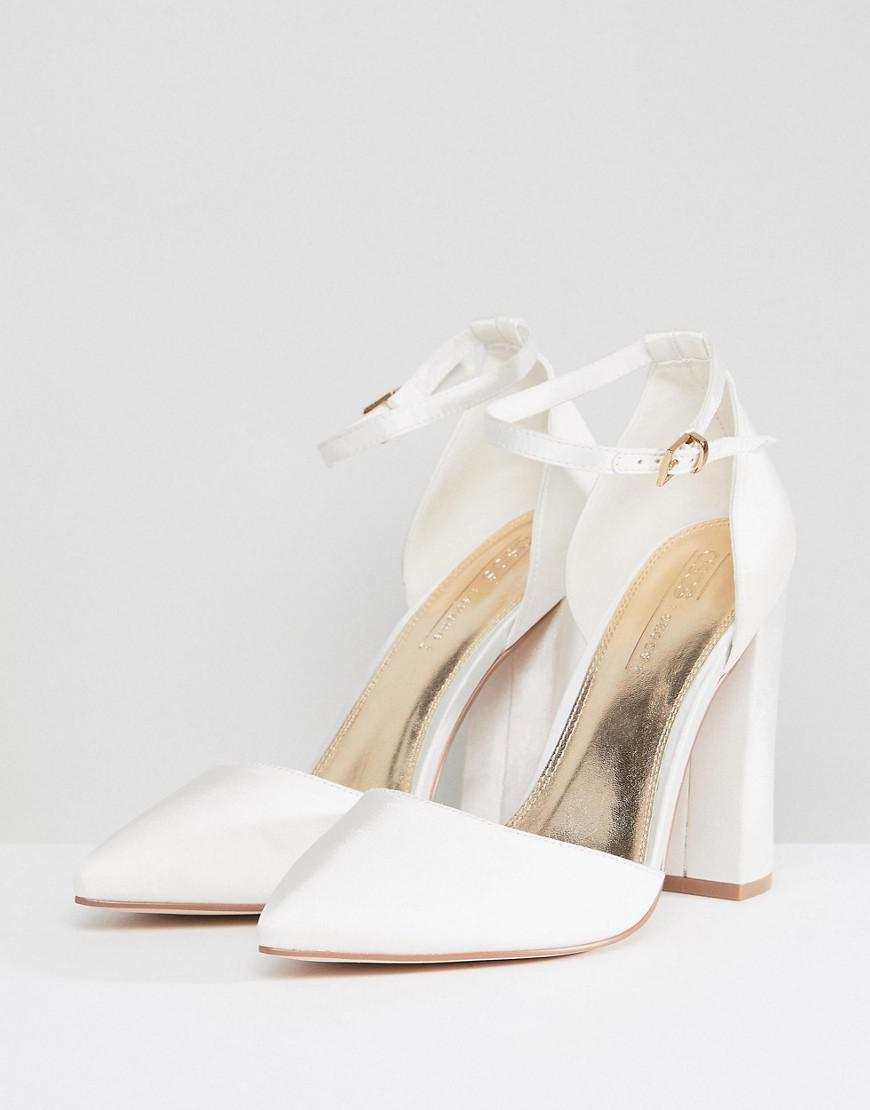 40cb09d1f2ad ASOS Pebble Wide Fit Bridal Pointed High Heels in Natural - Lyst