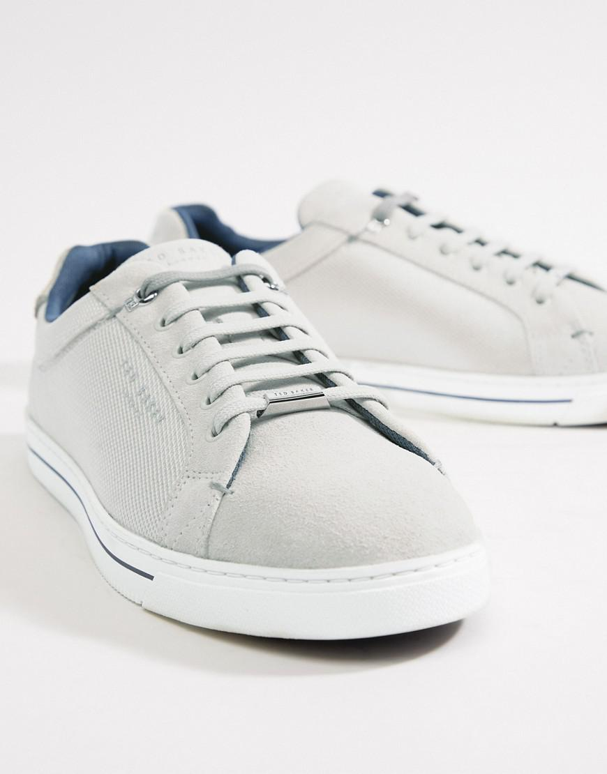 2ee98cccb3f06c Lyst - Ted Baker Eeril Sneakers In White Texture in White for Men