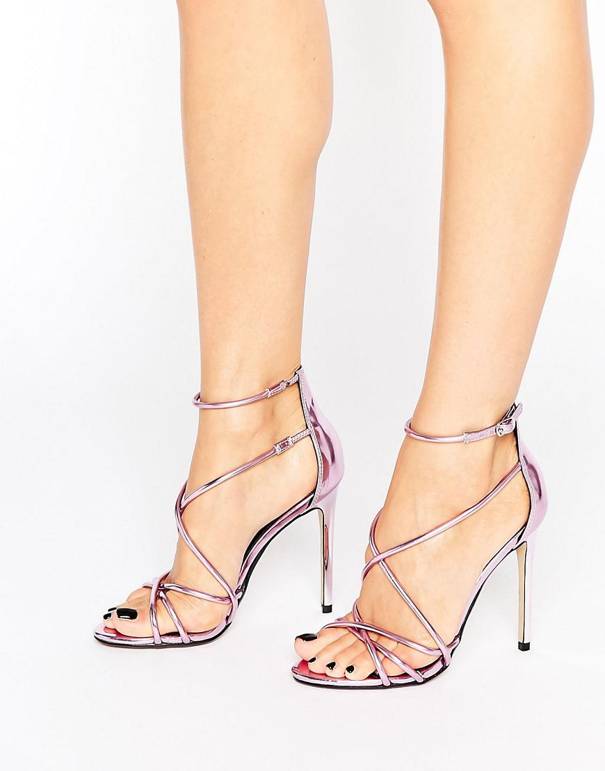 cfad577a2c32 Lyst - Office Spindle Pink Mirror Strappy Heeled Sandals in Pink