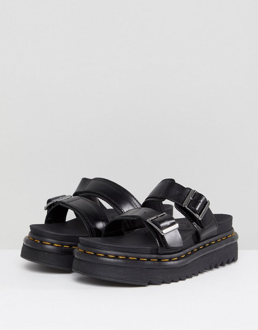 d69c4cddd96 Lyst - Dr. Martens Myles Two Strap Flat Sandals in Black