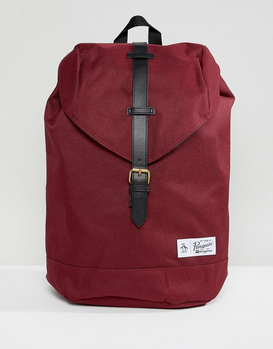 Original Penguin Single Strap Backpack in Red for Men - Lyst 34d2e520163dd