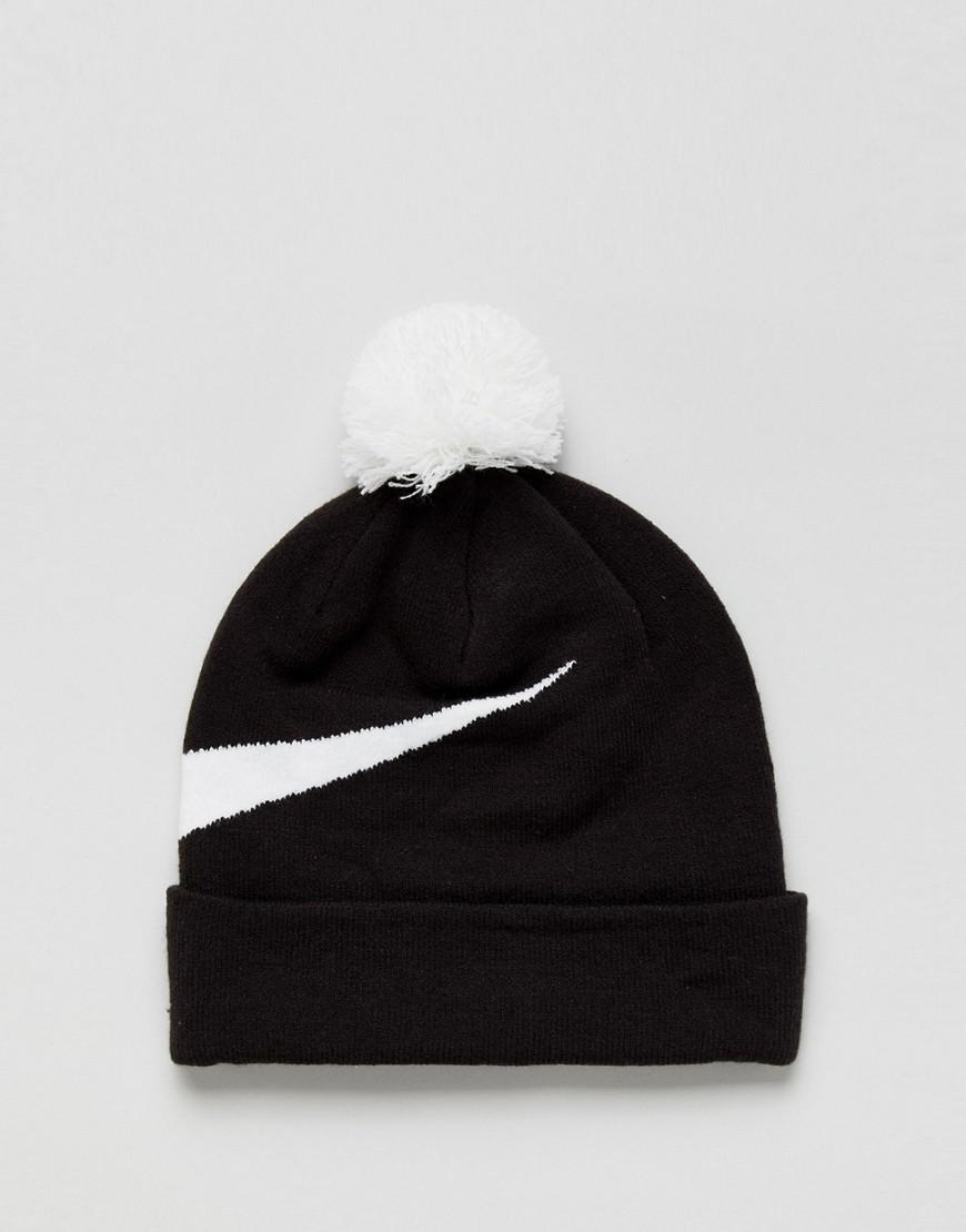Large Logo Beanie In Black 878120-010 - Black Nike C6lfH8I