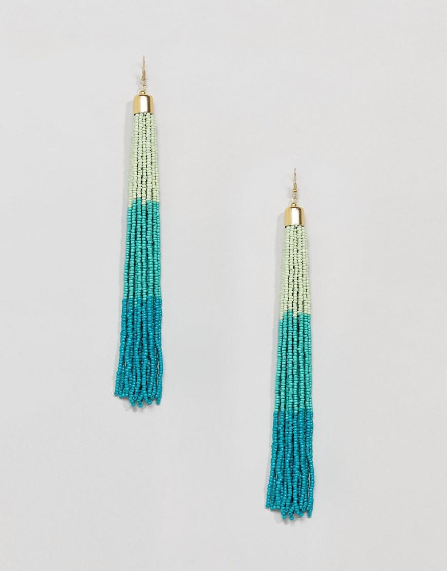 Pretty Flower and Ombre Tassel Earrings - Multi Asos vNxuCs2