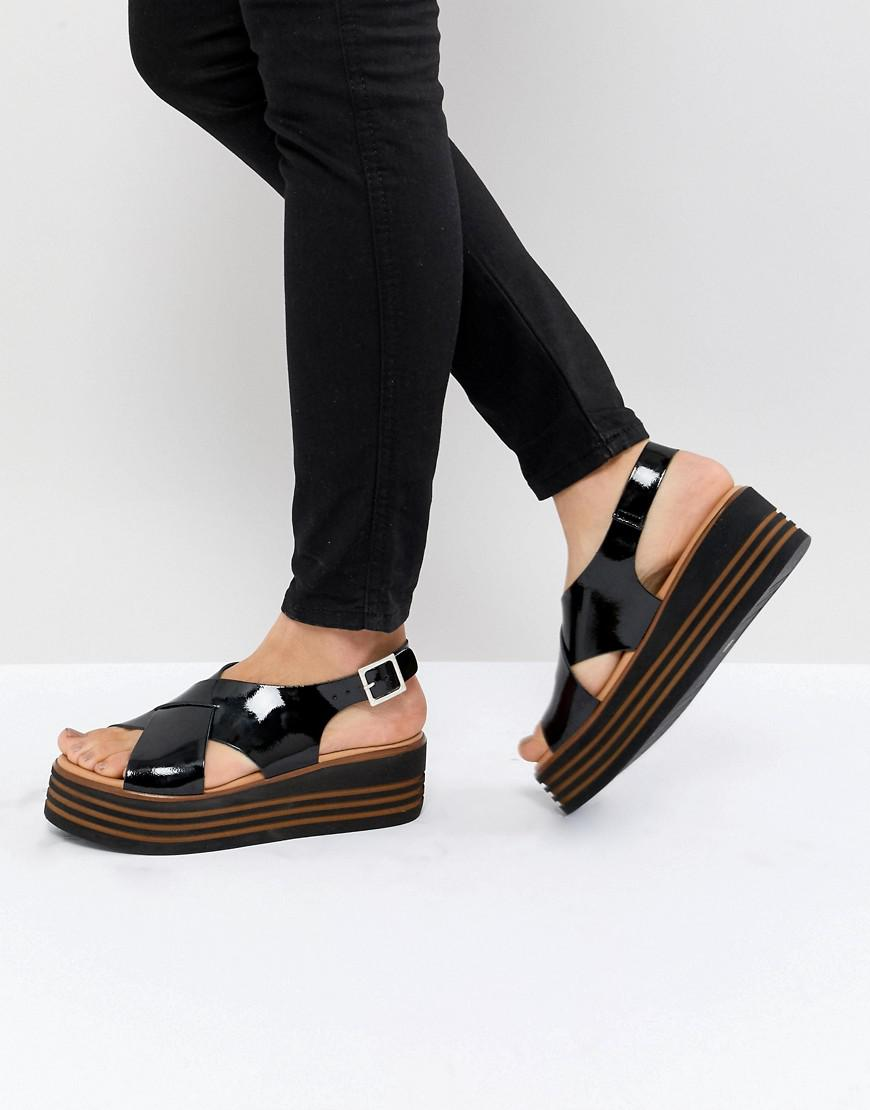 DESIGN Tornado Leather Patent Flatforms free shipping with credit card a8FTgNp