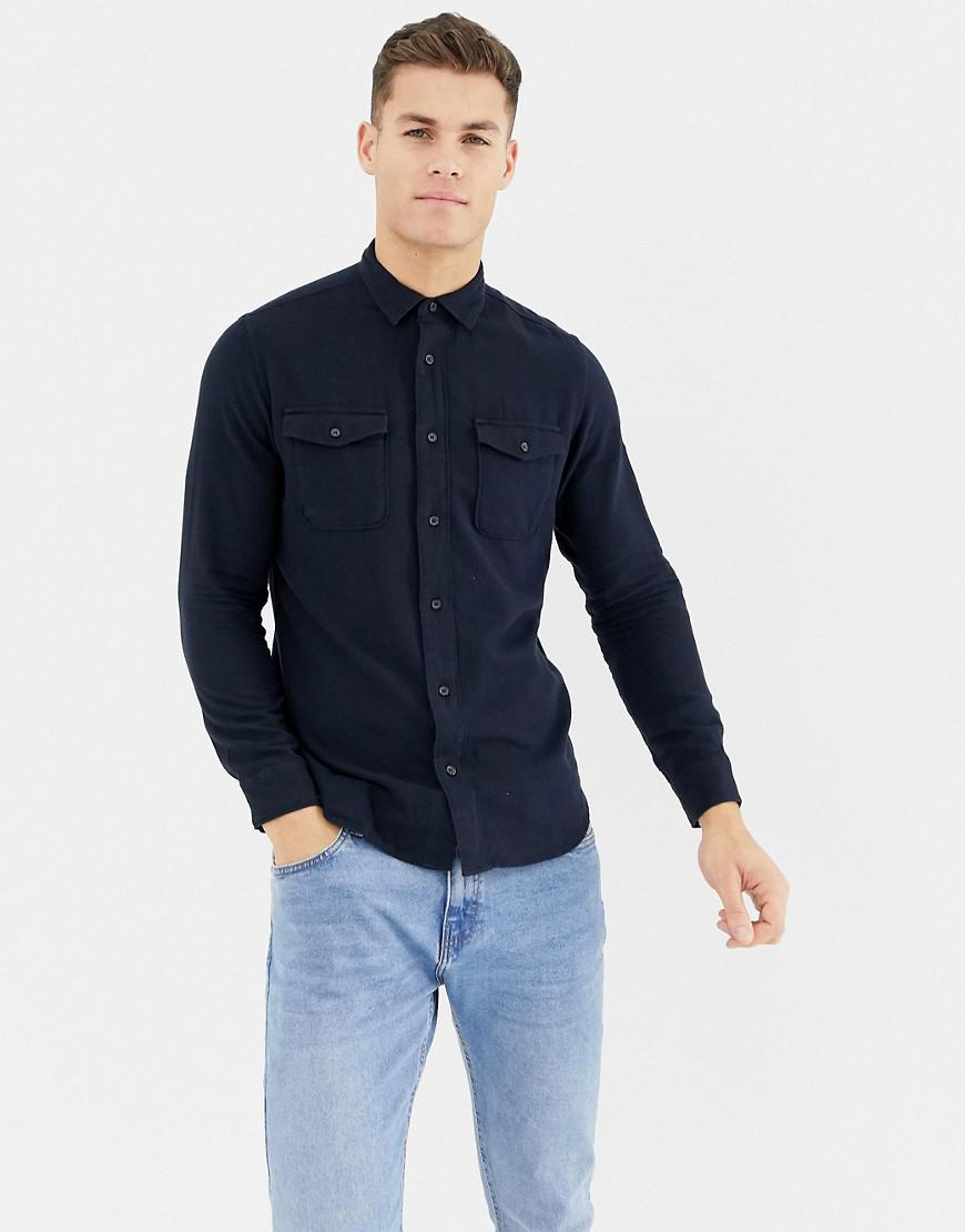 dd0038e207e Lyst - SELECTED Worker Overshirt in Blue for Men