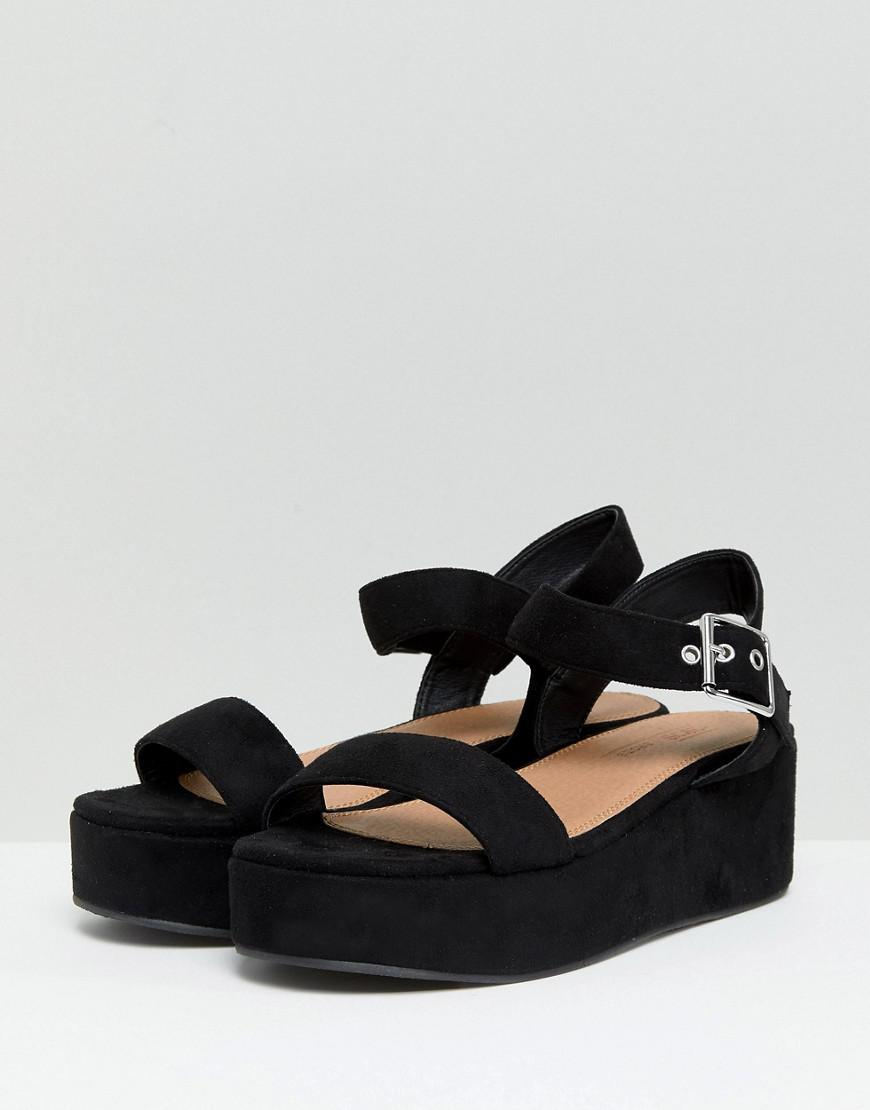 36765a58a5 ASOS Asos Toucan Wide Fit Wedge Sandals in Black - Lyst