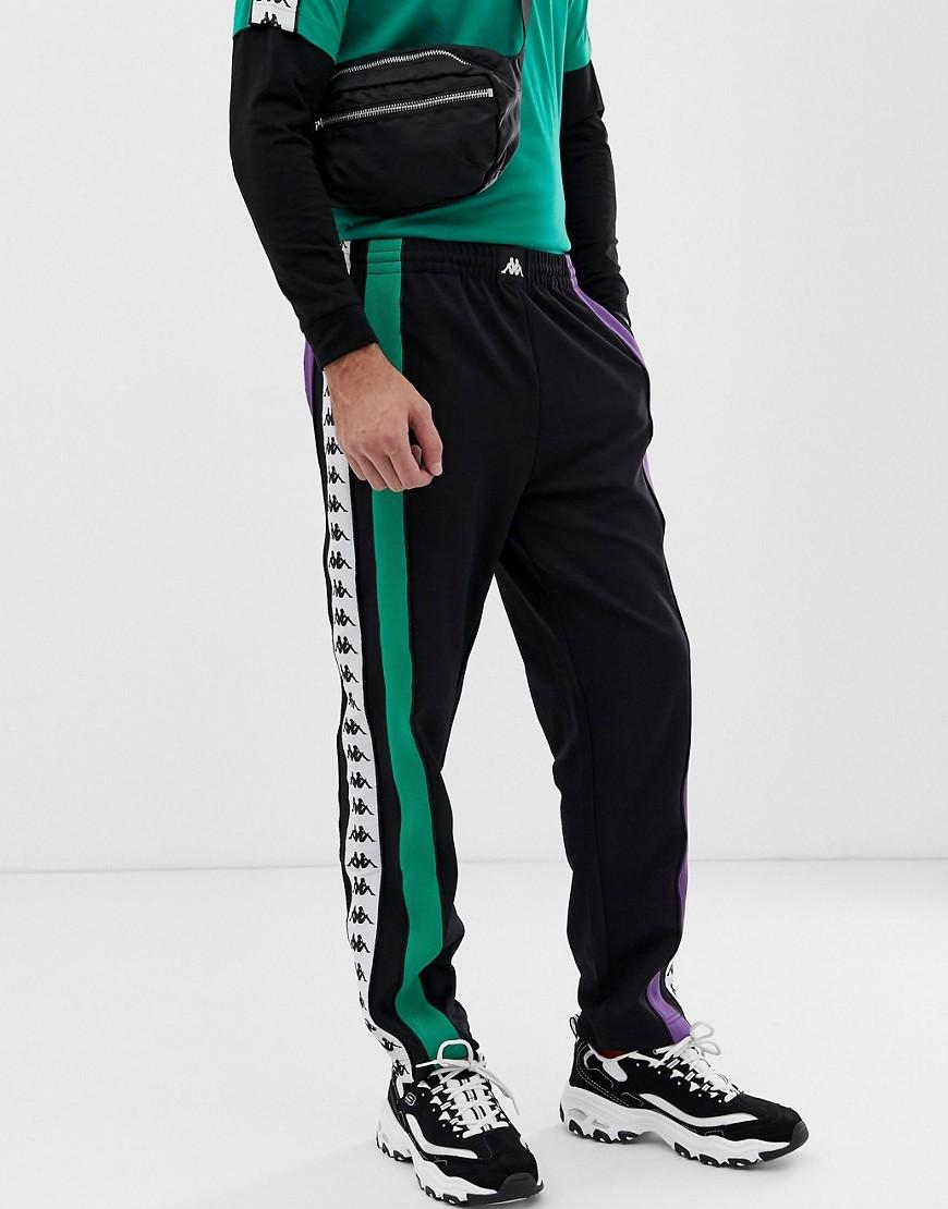 8e8a8433658 Kappa Authentic Balic jogger With Logo Taping In Black in Black for ...