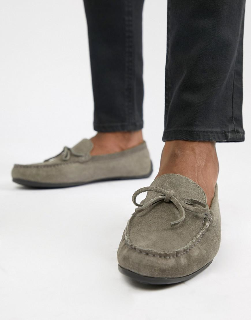 KG By Kurt Geiger Driving Shoes In Grey Suede - Grey Kurt Geiger RMjycDvt