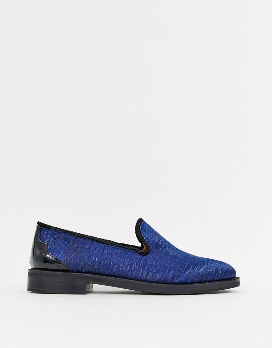 c3e4a42d1e2 Lyst - House Of Hounds Styx Loafers In Flocked Navy in Blue for Men