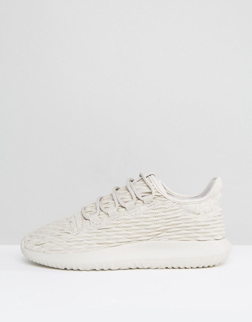 new products 3f5d7 ffcc1 adidas Originals Tubular Shadow Trainers In Beige Bb8820 in ...