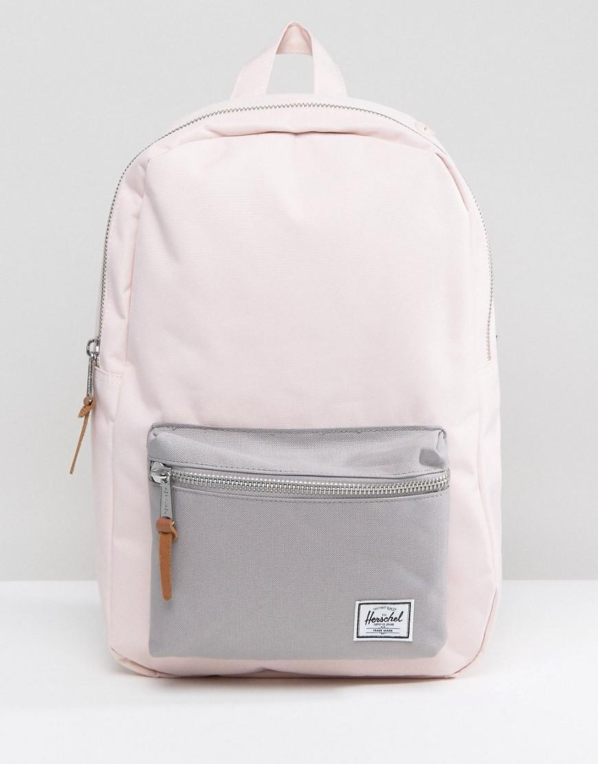 Herschel Supply Co. . Settlement Mid Volume Backpack In Pale Pink in ... 49cbd4e45e160