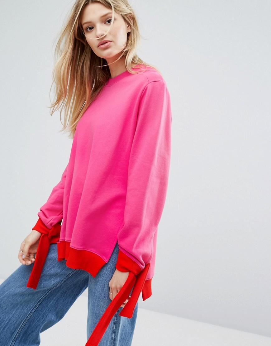 Outstanding ordinary Oversized Sweatshirt With Tie Up ...