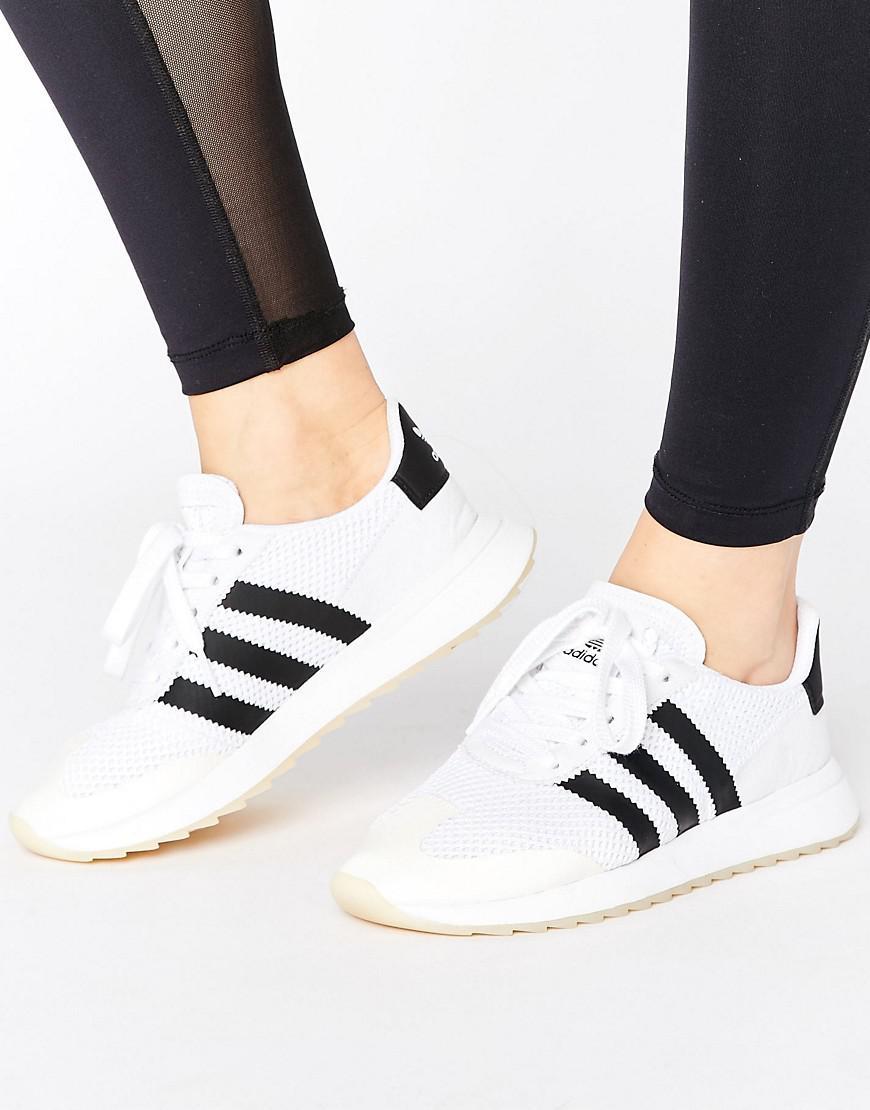 online store 43491 c5eb6 4c618 buy c31e9 Adidas Originals Originals White Flb Sneakers in White -  Lys 9c812 ...