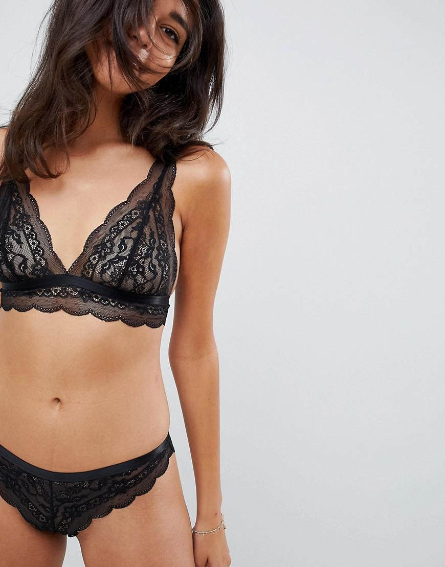 247f1a0d55 Lyst - Asos Design Lace Brazilian in Black - Save 50.0%