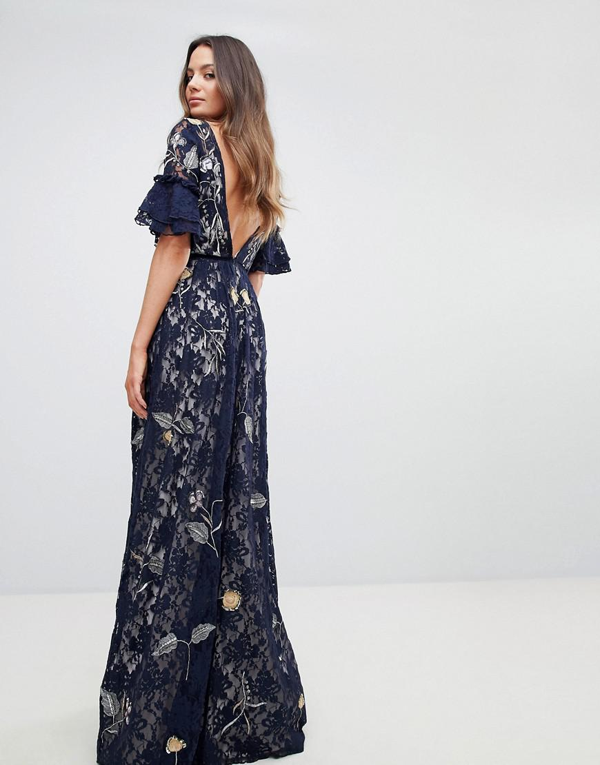 409b75fd39 frock-and-frill-navy-Allover-Floral-Embroidered-Lace -Maxi-Dress-With-Flutter-Sleeve.jpeg