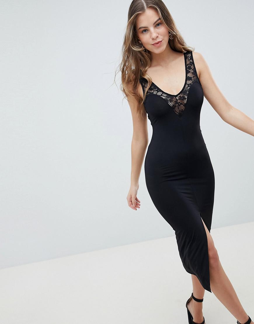 Asos Women S Black Sweetheart Slinky Slip Dress
