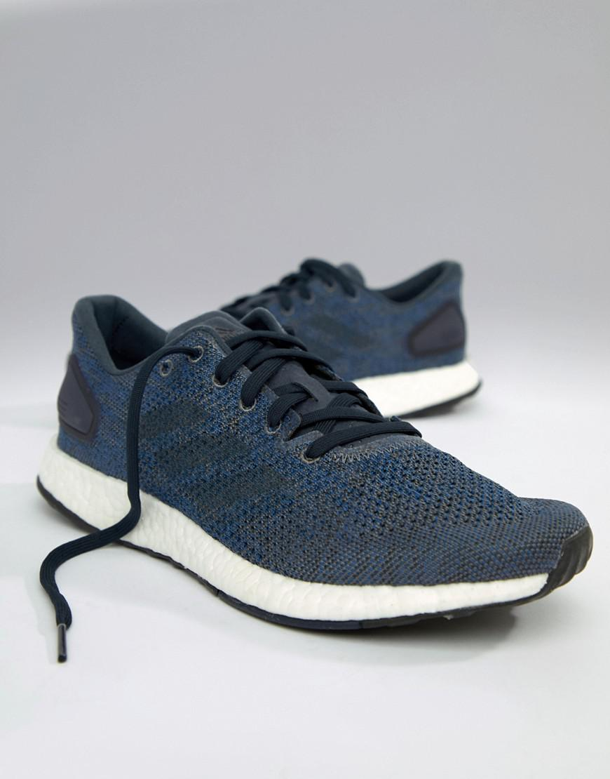 aa51fb02d9d0 Lyst - adidas Running Pureboost Dpr In Navy Bb6293 in Blue for Men