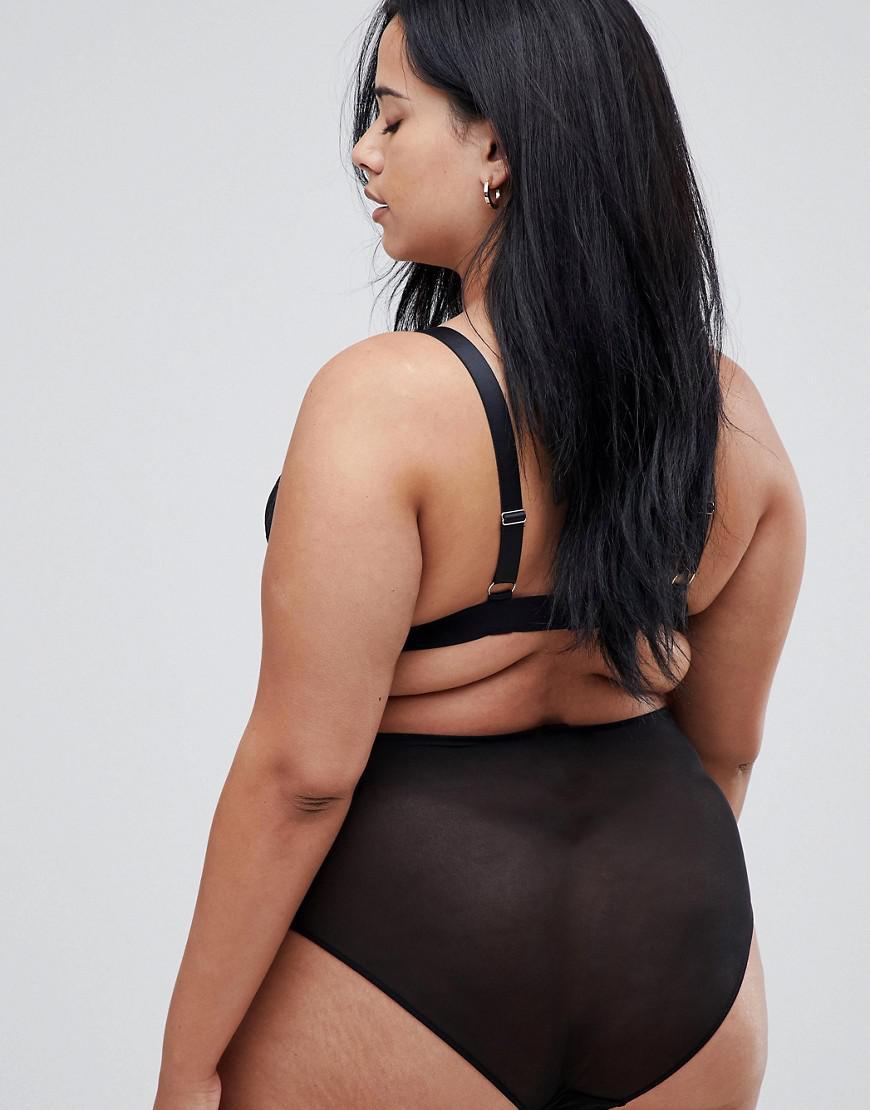b1e807124ea ASOS Asos Design Curve Roxy Lace Highwaist Pant in Black - Lyst