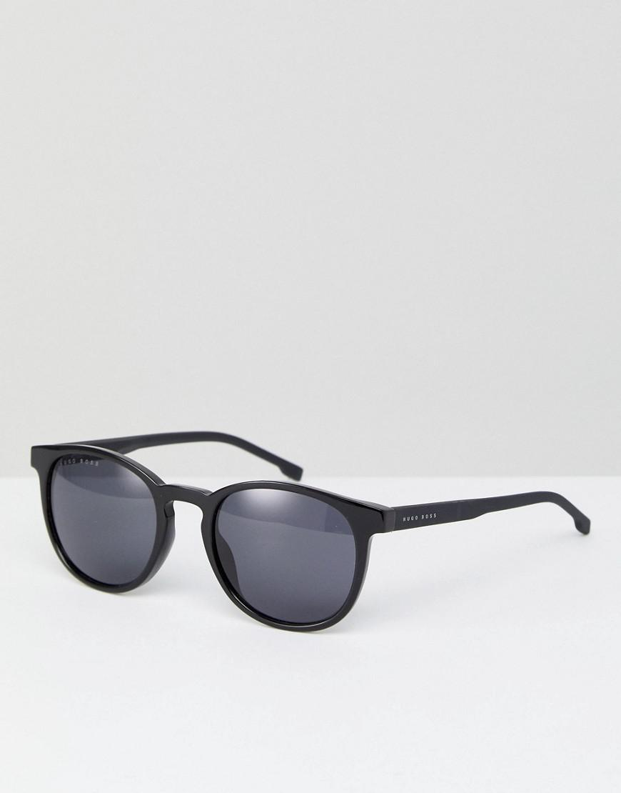c653b060c7 Lyst - BOSS By Hugo 0922 s Round Sunglasses In Black in Black for Men