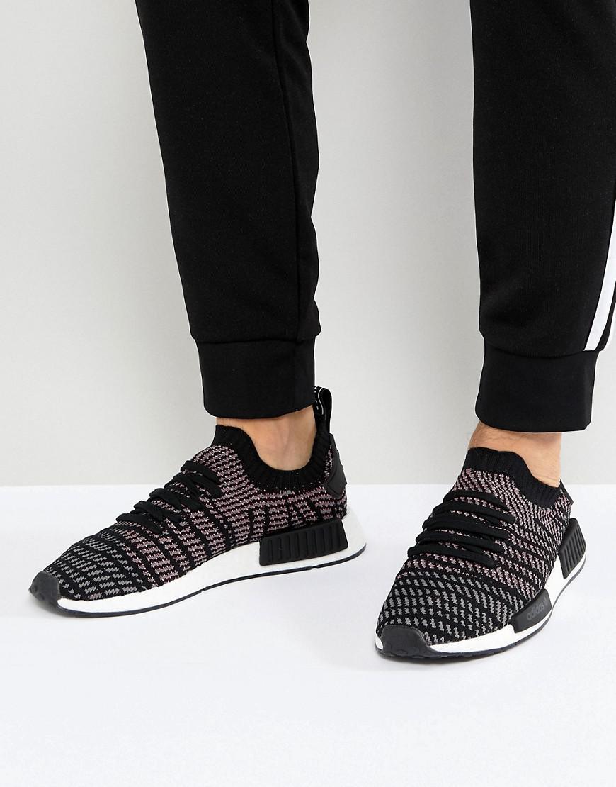 41324cb90 adidas Originals Nmd R1 Stlt Trainers In Black Cq2386 in Black for ...