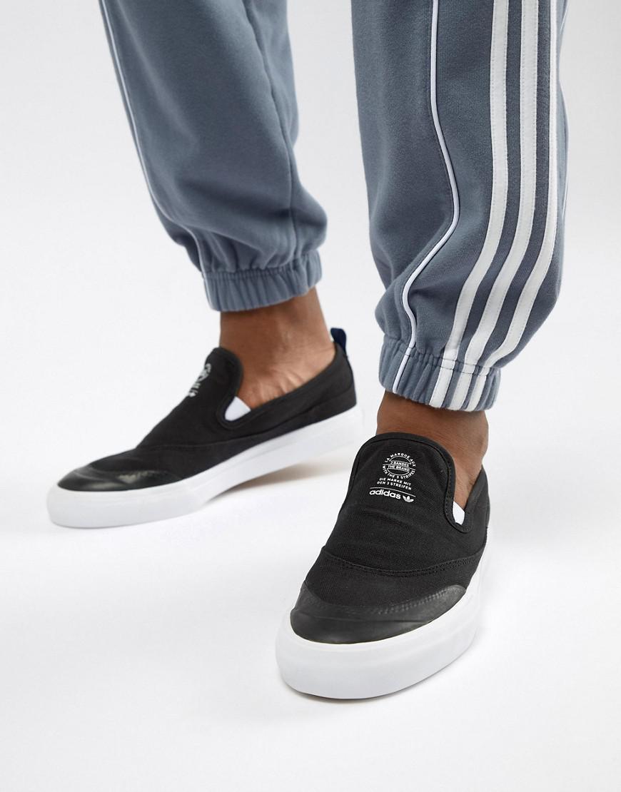 301a640923d adidas Originals Matchcourt Slip-on Sneakers In Black Cq1132 in ...