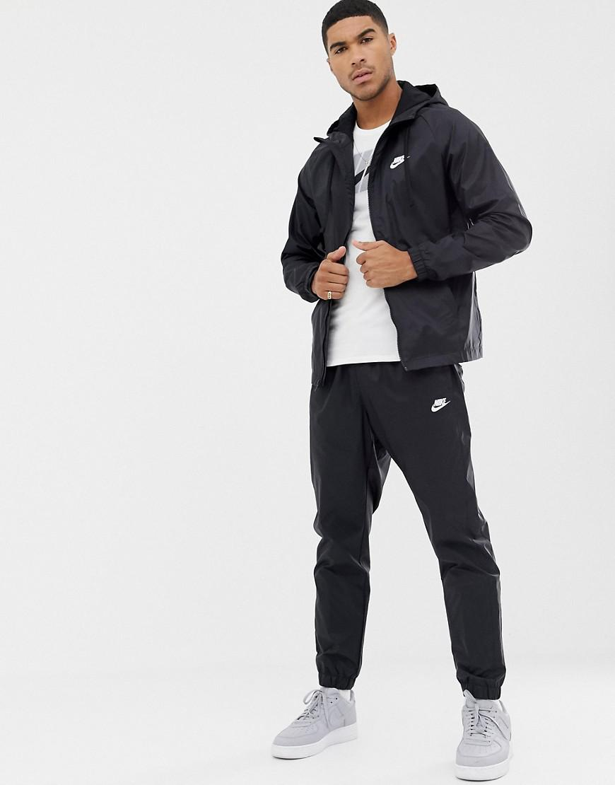 283a36fb42 Nike Woven Tracksuit Set In Black 928119-010 in Black for Men - Lyst
